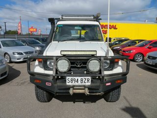 2003 Toyota Landcruiser HZJ78R (4x4) 3 Seat White 5 Speed Manual 4x4 TroopCarrier.