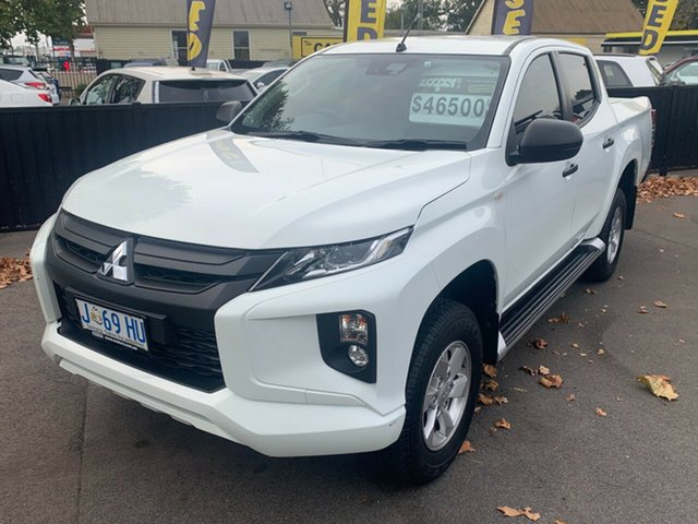 Used Mitsubishi Triton MR MY19 GLX+ Double Cab Launceston, 2019 Mitsubishi Triton MR MY19 GLX+ Double Cab White 6 Speed Manual Utility