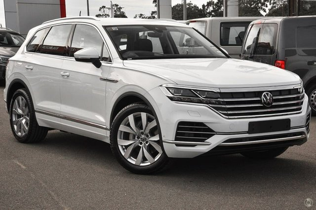 Demo Volkswagen Touareg CR MY21 210TDI Tiptronic 4MOTION Elegance Moorabbin, 2020 Volkswagen Touareg CR MY21 210TDI Tiptronic 4MOTION Elegance White 8 Speed Sports Automatic