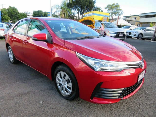 Used Toyota Corolla ZRE172R Ascent S-CVT Mount Gravatt, 2018 Toyota Corolla ZRE172R Ascent S-CVT Red 7 Speed Constant Variable Sedan