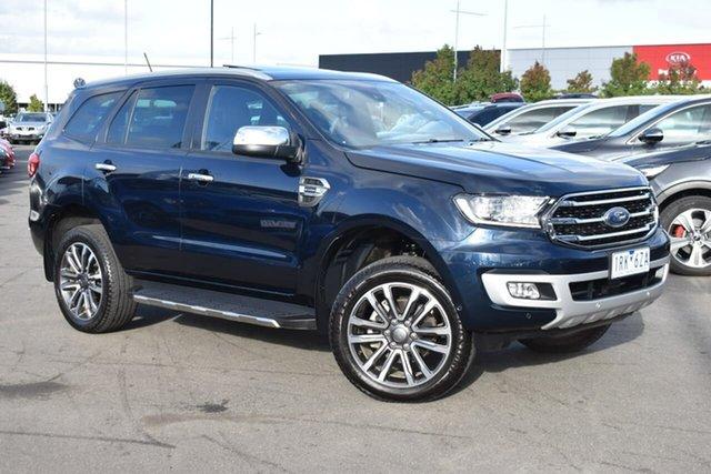 Used Ford Everest UA II 2020.25MY Titanium Essendon Fields, 2020 Ford Everest UA II 2020.25MY Titanium Blue 10 Speed Sports Automatic SUV