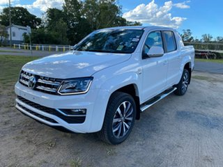2020 Volkswagen Amarok 2H MY21 TDI580 4MOTION Perm Aventura Candy White 8 Speed Automatic Utility.