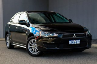 2010 Mitsubishi Lancer CJ MY11 ES Black 6 Speed Constant Variable Sedan