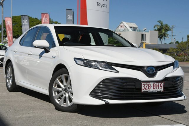 Pre-Owned Toyota Camry AXVH71R Ascent Albion, 2020 Toyota Camry AXVH71R Ascent Glacier White 6 Speed Constant Variable Sedan Hybrid