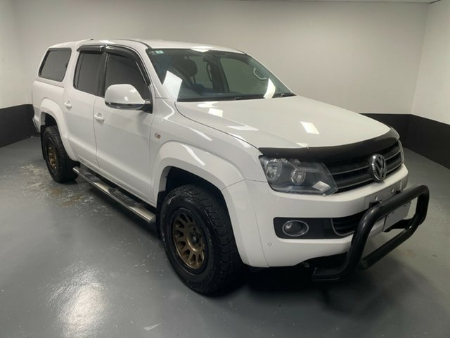 Used Volkswagen Amarok 2H MY13 TDI420 4Motion Perm Highline Rutherford, 2013 Volkswagen Amarok 2H MY13 TDI420 4Motion Perm Highline White 8 Speed Automatic Utility