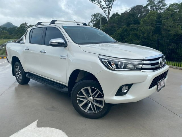 Used Toyota Hilux GUN126R SR5 Double Cab Cooroy, 2017 Toyota Hilux GUN126R SR5 Double Cab White 6 Speed Manual Utility