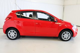 2011 Hyundai i20 PB MY12 Active Red 4 Speed Automatic Hatchback.