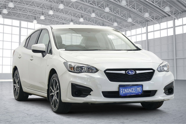Used Subaru Impreza G5 MY18 2.0i CVT AWD Victoria Park, 2018 Subaru Impreza G5 MY18 2.0i CVT AWD White Pearl 7 Speed Constant Variable Sedan