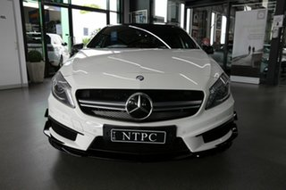 2013 Mercedes-Benz A-Class W176 A45 AMG SPEEDSHIFT DCT 4MATIC White 7 Speed