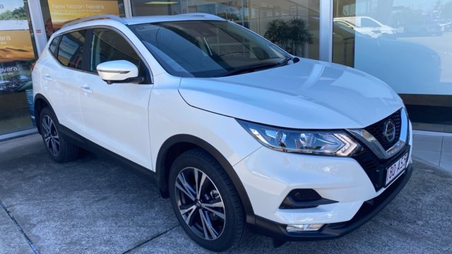 Demo Nissan Qashqai J11 Series 3 MY20 ST-L X-tronic Moorooka, 2020 Nissan Qashqai J11 Series 3 MY20 ST-L X-tronic Ivory Pearl 1 Speed Constant Variable Wagon