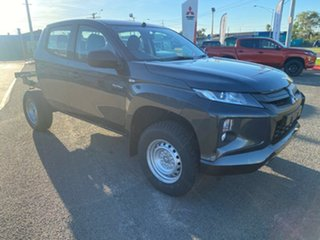 2021 Mitsubishi Triton MR MY21 GLX Double Cab Graphite Grey 6 Speed Manual Cab Chassis.