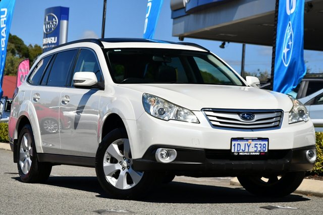 Used Subaru Outback B5A MY10 2.5i Lineartronic AWD Premium Melville, 2010 Subaru Outback B5A MY10 2.5i Lineartronic AWD Premium Satin White 6 Speed Constant Variable