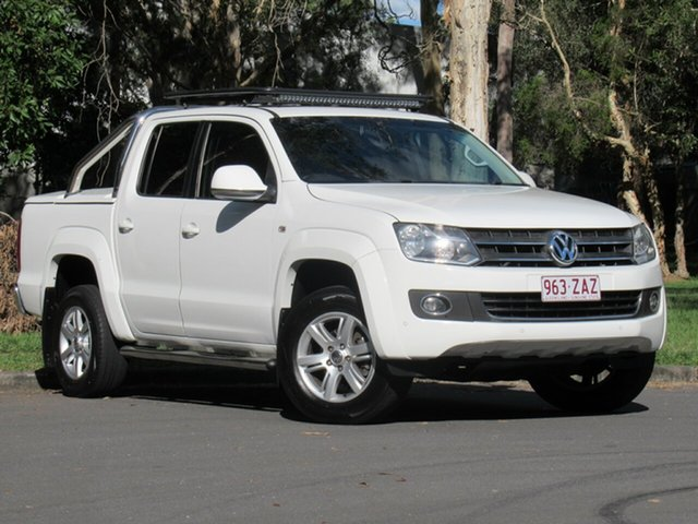 Used Volkswagen Amarok 2H MY14 TDI420 4Motion Perm Highline, 2013 Volkswagen Amarok 2H MY14 TDI420 4Motion Perm Highline White 8 Speed Automatic Utility