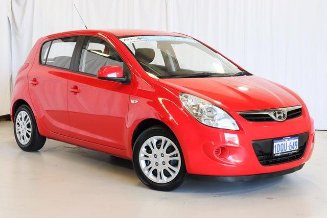 Used Hyundai i20 PB MY12 Active Wangara, 2011 Hyundai i20 PB MY12 Active Red 4 Speed Automatic Hatchback