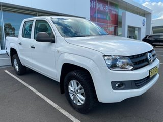 2015 Volkswagen Amarok 2H MY16 TDI420 4MOTION Perm Core White 8 Speed Automatic Utility.