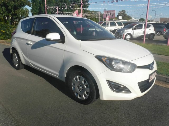 Used Hyundai i20 PB Active Margate, 2014 Hyundai i20 PB Active White 6 Speed Manual Hatchback