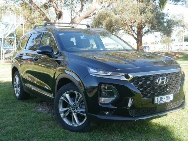 Used Hyundai Santa Fe DM5 MY18 Highlander CRDi (4x4) Wangaratta, 2018 Hyundai Santa Fe DM5 MY18 Highlander CRDi (4x4) Black 6 Speed Automatic Wagon