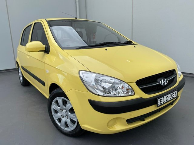 Used Hyundai Getz TB MY09 S Liverpool, 2009 Hyundai Getz TB MY09 S Yellow 4 Speed Automatic Hatchback