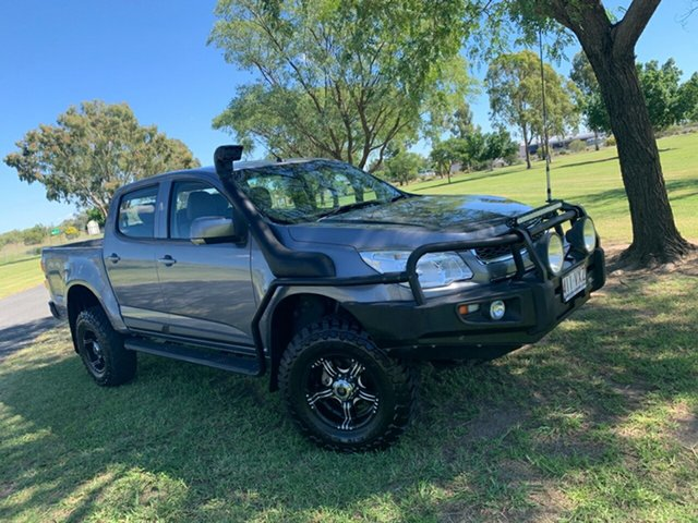 Used Holden Colorado RG MY15 LS Crew Cab Moree, 2015 Holden Colorado RG MY15 LS Crew Cab Satin Steel Grey 6 Speed Manual Utility