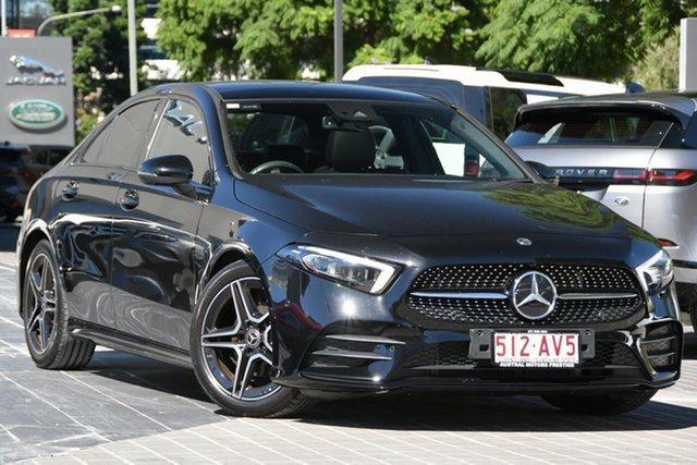 Used Mercedes-Benz A-Class V177 A200 DCT Newstead, 2018 Mercedes-Benz A-Class V177 A200 DCT Black 7 Speed Sports Automatic Dual Clutch Sedan