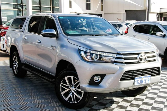 Used Toyota Hilux GUN126R SR5 Double Cab Attadale, 2017 Toyota Hilux GUN126R SR5 Double Cab Silver 6 Speed Sports Automatic Utility
