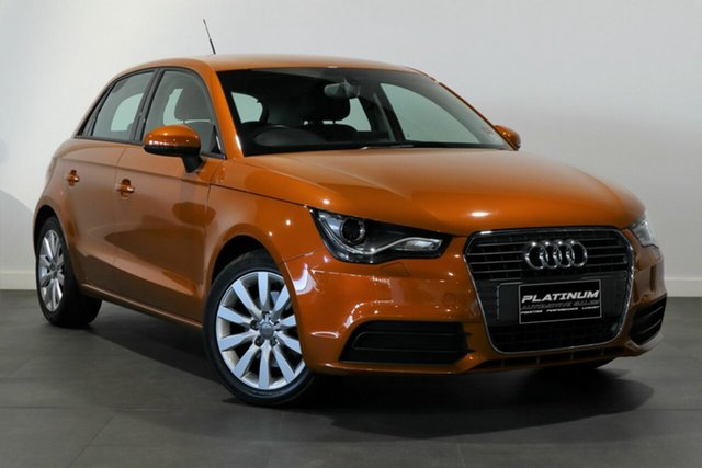 Used Audi A1 8X MY14 Ambition Sportback S Tronic Bayswater, 2013 Audi A1 8X MY14 Ambition Sportback S Tronic Orange 7 Speed Sports Automatic Dual Clutch