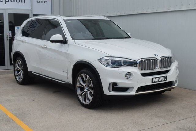 Used BMW X5 F15 xDrive30d Rutherford, 2013 BMW X5 F15 xDrive30d White 8 Speed Automatic Wagon