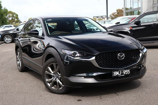 Demo Mazda CX-30 DM4WLA X20 SKYACTIV-Drive i-ACTIV AWD Astina South Melbourne, 2020 Mazda CX-30 DM4WLA X20 SKYACTIV-Drive i-ACTIV AWD Astina Jet Black 6 Speed Sports Automatic