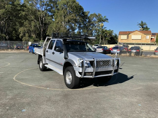 Used Holden Rodeo RA MY05 LX Crew Cab Kippa-Ring, 2005 Holden Rodeo RA MY05 LX Crew Cab Silver 5 Speed Manual Cab Chassis