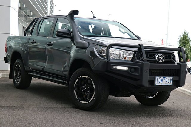 Pre-Owned Toyota Hilux GUN126R Rugged Double Cab South Morang, 2019 Toyota Hilux GUN126R Rugged Double Cab Graphite 6 Speed Sports Automatic Utility