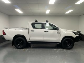 2019 Toyota Hilux GUN126R SR Double Cab White 6 Speed Sports Automatic Cab Chassis