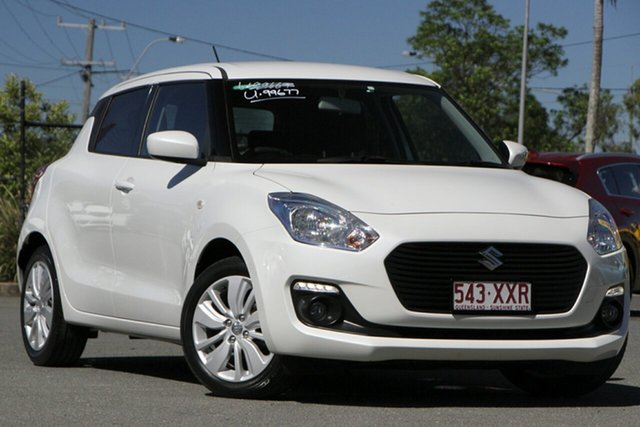 Used Suzuki Swift AZ GL Navigator Rocklea, 2017 Suzuki Swift AZ GL Navigator Snow White Pearl 1 Speed Constant Variable Hatchback