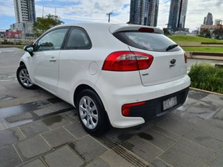 2015 Kia Rio UB MY16 S White 4 Speed Sports Automatic Hatchback.