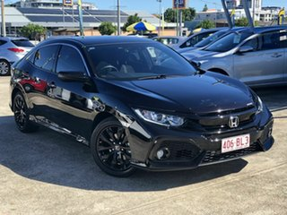 2017 Honda Civic 10th Gen MY17 VTi-L Black 1 Speed Constant Variable Hatchback.
