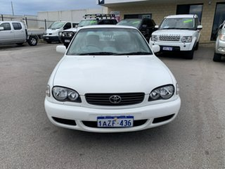 2001 Toyota Corolla AE112R Ascent White 5 Speed Manual Sedan.