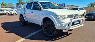 2012 Mitsubishi Triton MN MY12 GL-R Double Cab 4x2 White 4 Speed Automatic Utility.