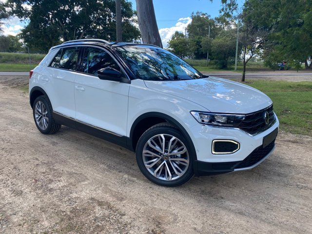 New Volkswagen T-ROC A1 MY21 110TSI Style North Rockhampton, 2021 Volkswagen T-ROC A1 MY21 110TSI Style Pure White 8 Speed Sports Automatic Wagon