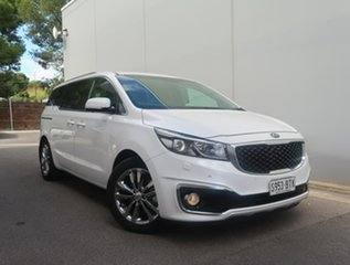 2017 Kia Carnival YP MY18 Platinum White 6 Speed Sports Automatic Wagon.