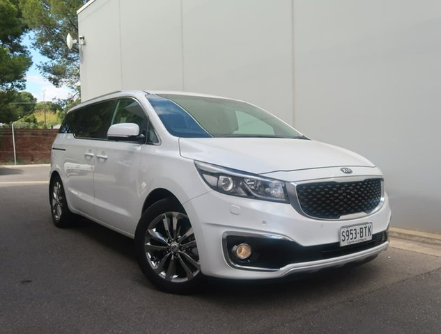 Used Kia Carnival YP MY18 Platinum Reynella, 2017 Kia Carnival YP MY18 Platinum White 6 Speed Sports Automatic Wagon