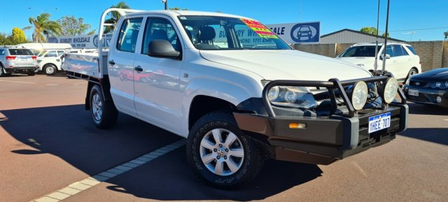 Used Volkswagen Amarok 2H MY12 TDI400 4Mot East Bunbury, 2012 Volkswagen Amarok 2H MY12 TDI400 4Mot White 6 Speed Manual Cab Chassis