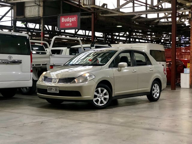 Used Nissan Tiida C11 MY07 ST Mile End South, 2008 Nissan Tiida C11 MY07 ST Beige 4 Speed Automatic Sedan
