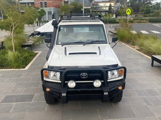 2012 Toyota Landcruiser VDJ79R MY13 GXL White 5 Speed Manual Cab Chassis