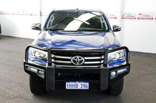2016 Toyota Hilux GUN126R SR5 (4x4) Nebula Blue 6 Speed Automatic Dual Cab Utility.
