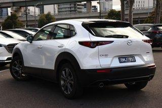 2020 Mazda CX-30 DM4WLA G25 SKYACTIV-Drive i-ACTIV AWD Astina Snowflake White 6 Speed.