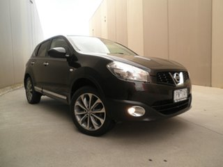 2011 Nissan Dualis J10 Series II MY2010 Ti Hatch X-tronic Black Quartz 6 Speed Constant Variable.