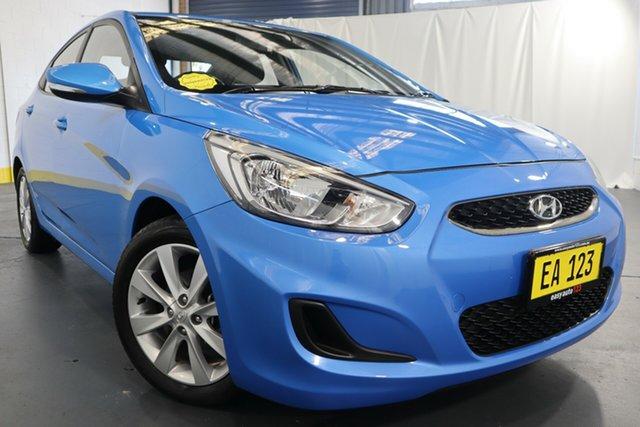 Used Hyundai Accent RB6 MY18 Sport Castle Hill, 2017 Hyundai Accent RB6 MY18 Sport Blue 6 Speed Sports Automatic Sedan