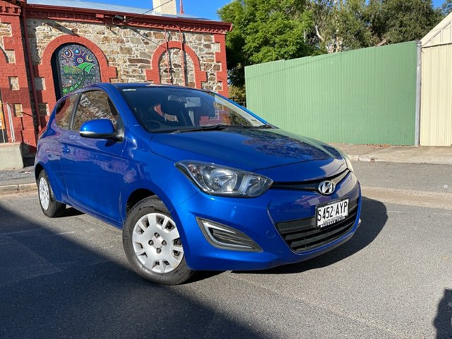 Used Hyundai i20 PB MY12 Active Cheltenham, 2012 Hyundai i20 PB MY12 Active Pristine Blue 5 Speed Manual Hatchback