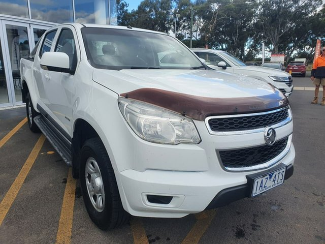 Used Holden Colorado RG MY13 LX Crew Cab 4x2 Epsom, 2013 Holden Colorado RG MY13 LX Crew Cab 4x2 White 5 Speed Manual Utility