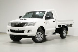 2013 Toyota Hilux KUN26R MY12 SR (4x4) White 5 Speed Manual Cab Chassis.