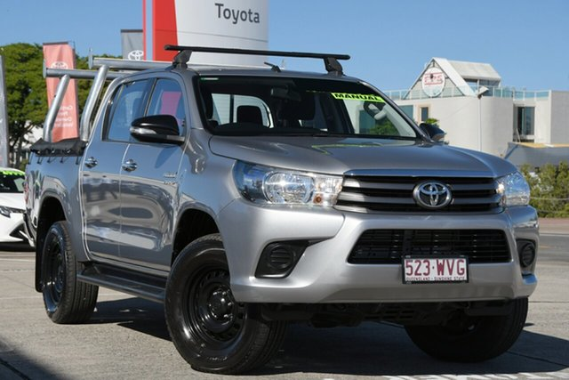 Pre-Owned Toyota Hilux GUN126R SR Double Cab Albion, 2016 Toyota Hilux GUN126R SR Double Cab Silver Sky 6 Speed Manual Utility